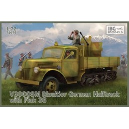 IBG-72075 IBG 72075 1/72 V3000S/SS M Maultier with Flak 38