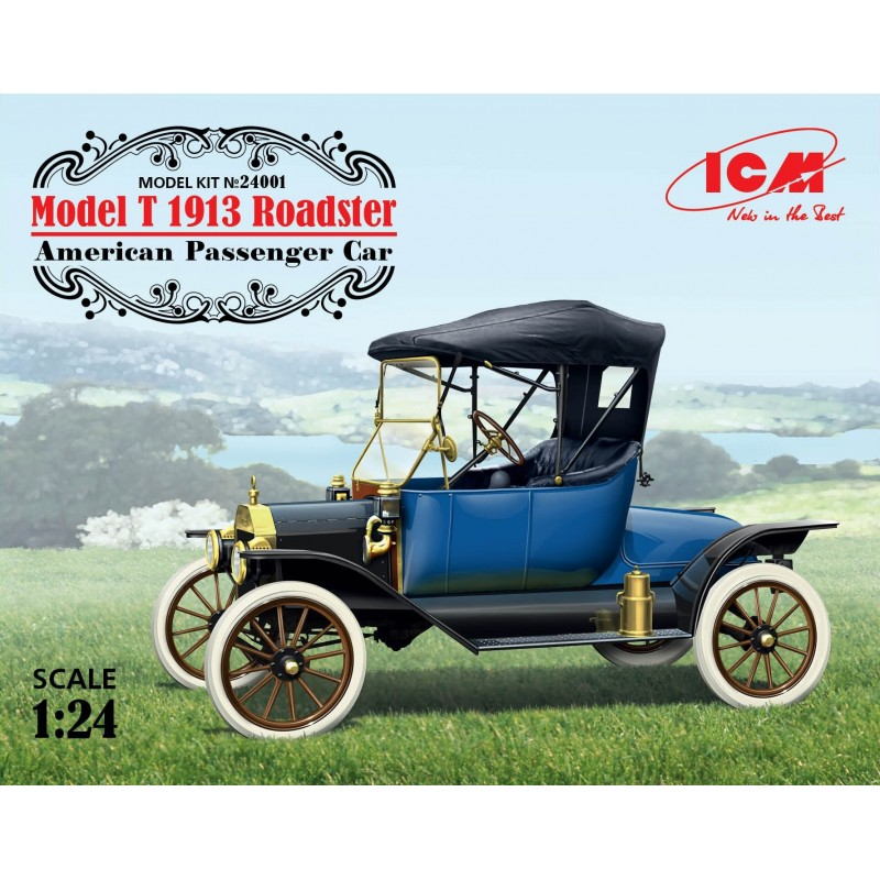 ICM-24001 ICM 24001 1/24 Model T 1913 Roadster, American Passenger Car
