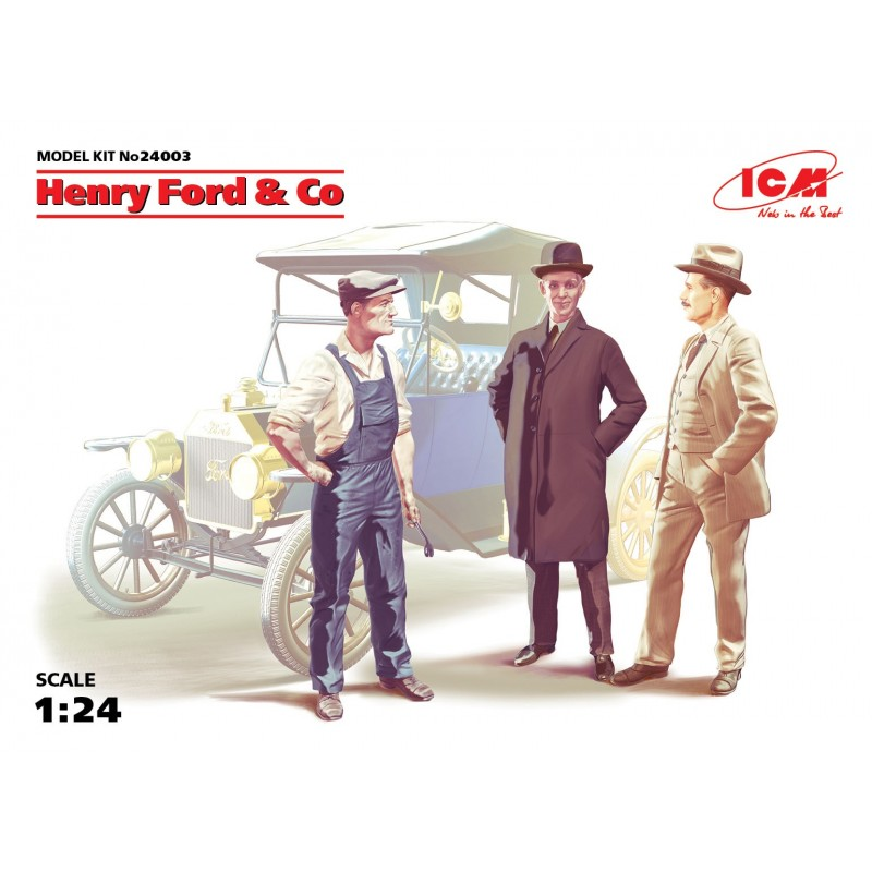 ICM-24003 ICM 24003 1/24 Henry Ford  Co (3 figures) (100% new molds),