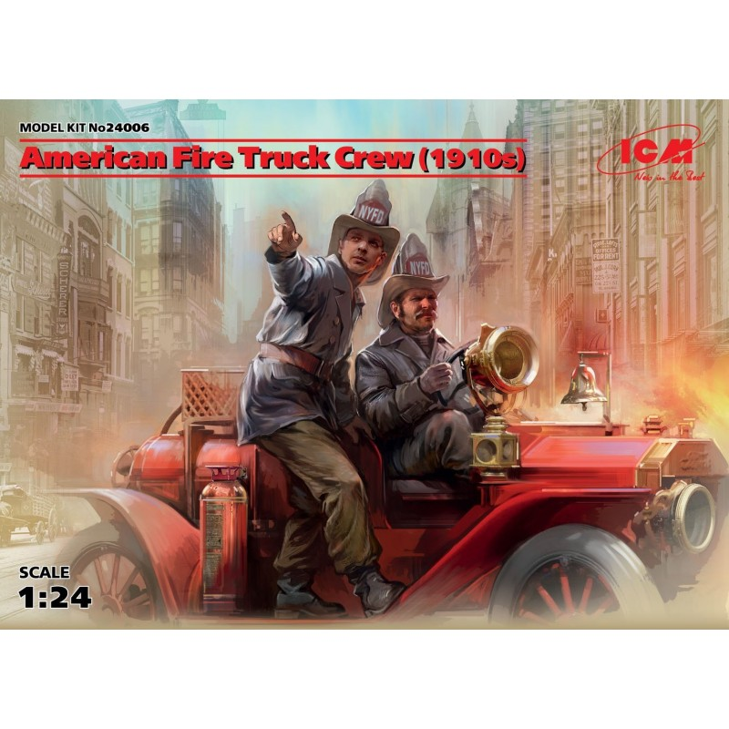 ICM-24006 icm 24006 1/24 American Fire Truck Crew (1910s) (2 figures) (100% new molds)