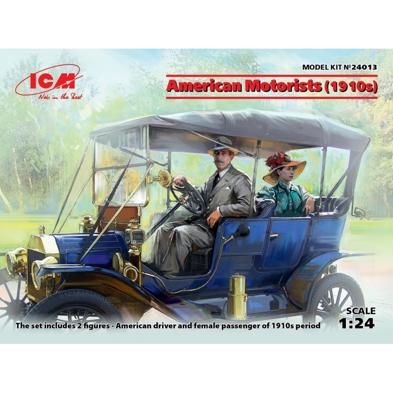 ICM-24013 ICM 24013 1/24 American Motorists (1910 s)