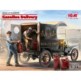 ICM-24019  ICM 24019 1/24 Gasoline Delivery. Model T 1912 Delivery Car with American Gasoline Loaders