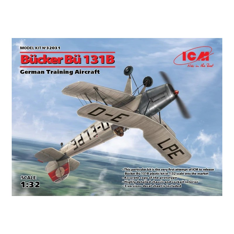 ICM-32031 ICM 32031 1/32 Bucker Bu-131B German Training Aircraft