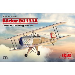 ICM-32033 ICM 32033 Bücker Bü 131A 1/32 German Training Aircraft