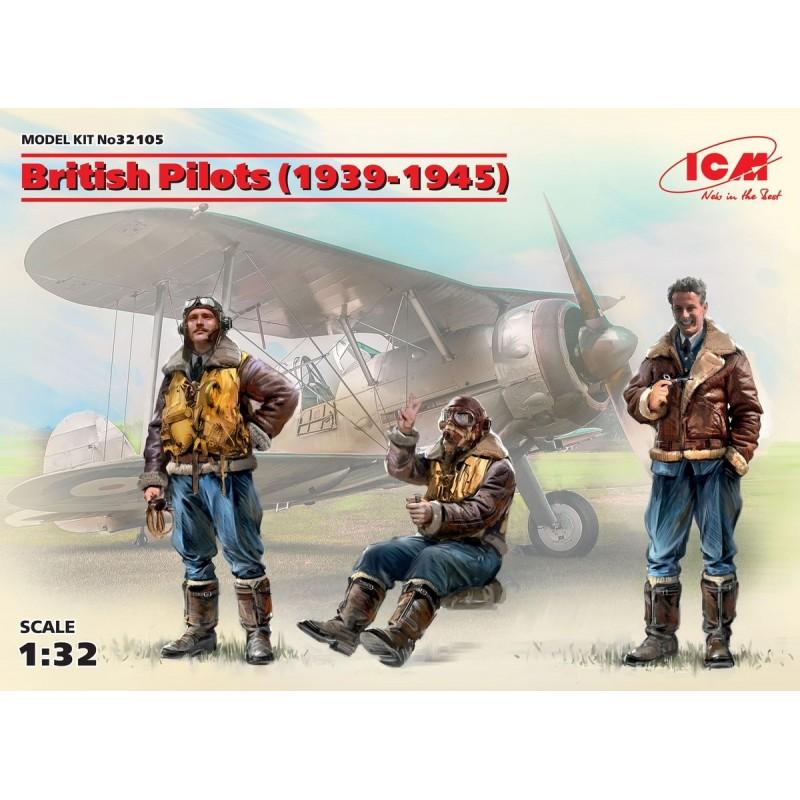 ICM-32105 ICM 32105 1/32 British Pilots (1939-1945) (3 figures)