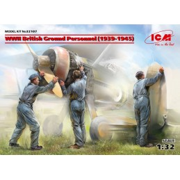 ICM-32107 ICM 32107 1/32 WWII British Ground Personnel (1939-1945)