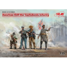 ICM-35021 ICM 35021 1/35 American Civil War Confederate Infantry