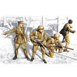 ICM-35301 ICM 35301 1/35 British Infantry (1917-1918) (4 figures - 1 officer, 3 soldiers)