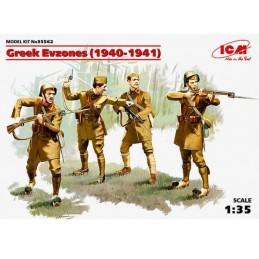 ICM-35562 ICM 35562 1/35 1/35 Greek Evzones (1940-1941) (4 figures)