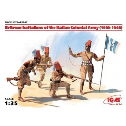 ICM-35567 ICM 35567 1/35 Eritrean battalions of the Italian ?olonial Army (1939-1940) (4 figures) (100% new molds)