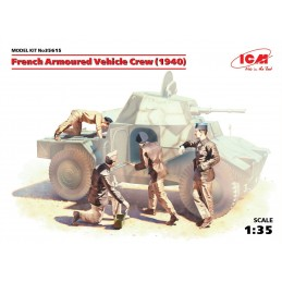 ICM-35615 ICM 35615  1/35  French Armoured Vehicle Crew (1940)
