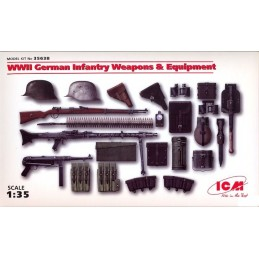 ICM-35638 ICM 35638 1/35 WWII German Infantry Weapons  Equipment