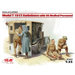 ICM-35662 ICM 35662 1/35 Model T 1917 Ambulance with US Medical Personnel