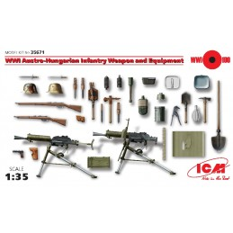 ICM-35671 1/35 ICM 35671 WWI Austro-Hungarian Infantry Weapon and Equipment