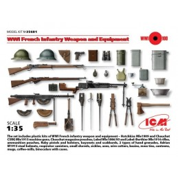ICM-35681 1/35 ICM 35681 WWI French Infantry Weapon and Equipment