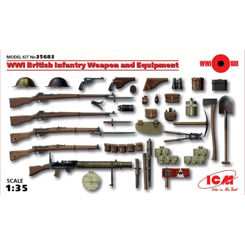 ICM-35683 1/35 ICM 35683 WWI British Infantry Weapon and Equipment
