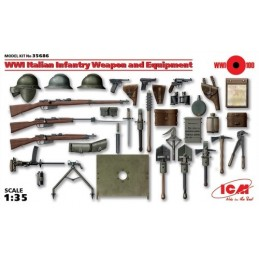 ICM-35686 1/35 WWI Italian Infantry Weapon and Equipment.