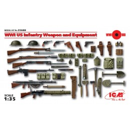 ICM-35688 ICM 35688   1/35 WWI US Infantry Weapon and Equipment