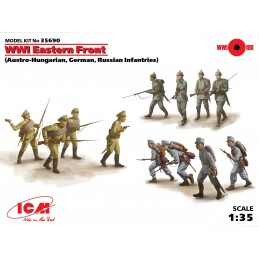 ICM-35690 1/35 WWI Eastern Front (Austro-Hungarian, German, Russian Infantries) (12 figures)