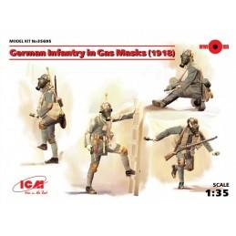 ICM-35695 ICM 35695 1/35 German Infantry in Gas Masks (1918) (4 figures)