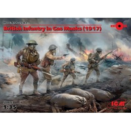 ICM-35703 ICM 35703 1/35 British Infantry in gas masks 1917
