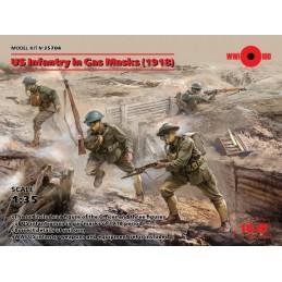 ICM-35704 ICM 35704 1/35 US Infantry in Gas Masks