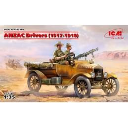 ICM-35707 ICM 35707 1/35 ANZAC Drivers (1917-1918) (2 figures) (100% new molds)