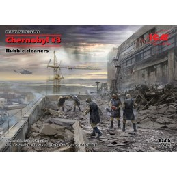 ICM-35903 ICM 35903 1/35 Chernobyl3. Rubble cleaners (5 figures)