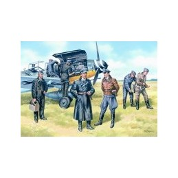 ICM-48082 1/48 ICM 48082 German Luftwaffe Pilots and Ground Personnel (1939-1945)