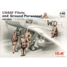 ICM-48083 1/48 USAAF Pilots/Ground crew figures 1941/45