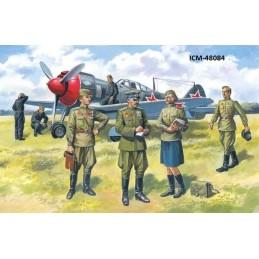 ICM-48084 ICM 48084 1/48  PILOTOS Y PERSONAL DE TIERRA SOVIETICO SET Nº 1