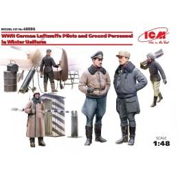 ICM-48086 1/48 ICM 48086 PILOTOS Y PERSONAL DE TIERRA LUTWAFFE SET Nº 3