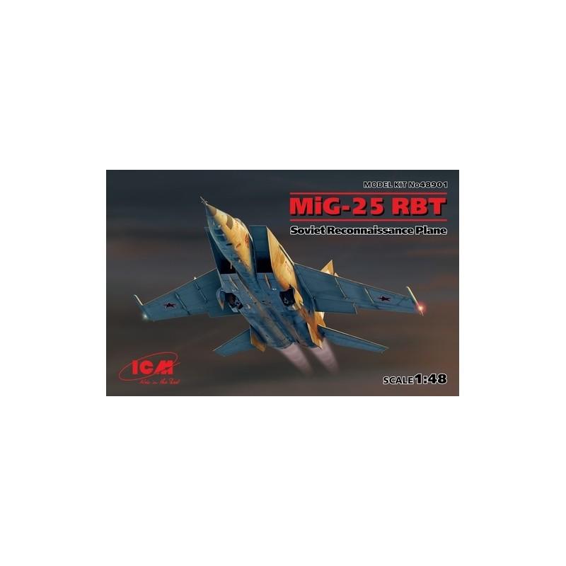 ICM-48901 ICM 48901 1/48 MiG-25 RBT, Soviet Reconnaissance Plane (100% new molds)