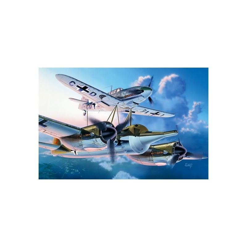 ITA-0072 ITALERI 0072 1/72 MISTEL 1 JU-88 A4+BF-109F