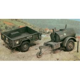 ITA-0229 Italeri 0229 1/35 American 250 galons Tank Trailer and M101 Cargo Trailer