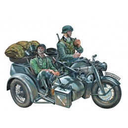 ITA-0317  Italeri 0317 1/35 ZUNDAPP KS750 WITH SIDECAR