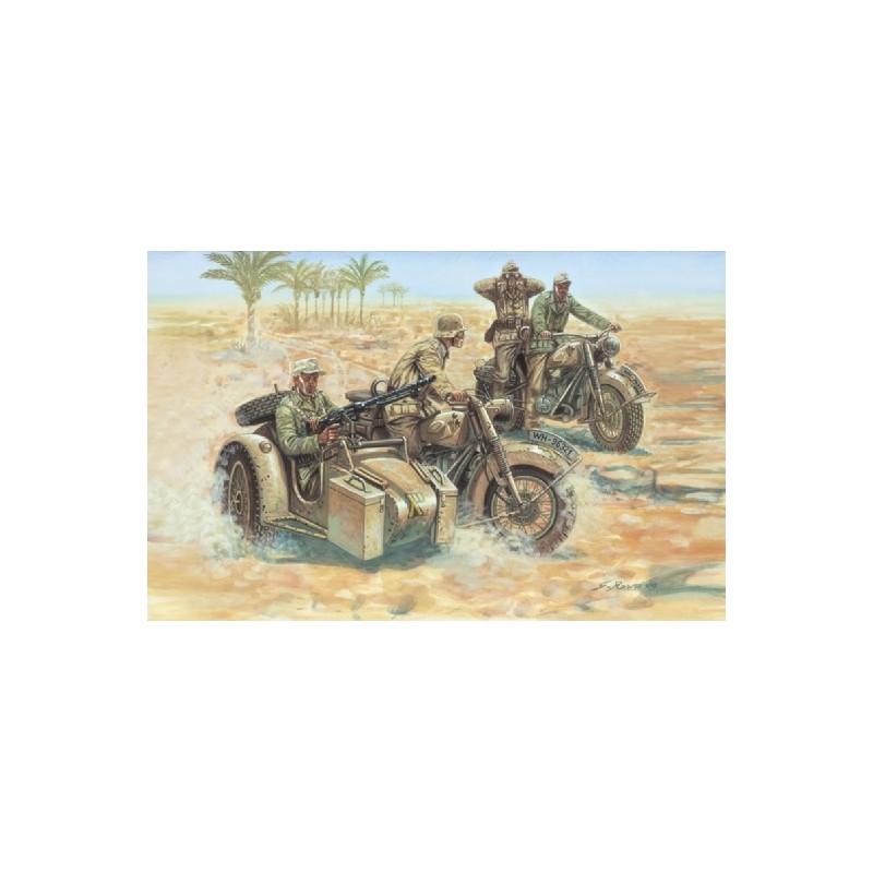 ITA-6121 ITALERI 6121 1/72 SOLDADOS ALEMANES CON MOTOCICLETAS. II GUERRA MUNDIAL