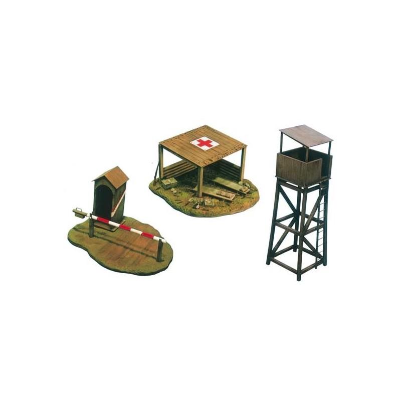 ITA-6130 ITALERI 6130 1/72 SET DE CONSTRUCCIONES PARA CAMPO DE BATALLA