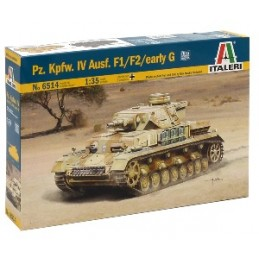 ITA-6514 ITALERI 6514 1/35  Pz. Kpfw. IV Ausf. F1/F2 Sd. Kfz. 161+fotograbados