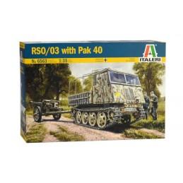 ITA-6563  Italeri 6563 1/35 RSO/03 with Pak 40