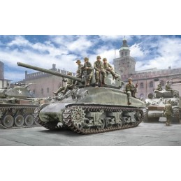 ITA-6568 italeri 6568 1/35 M4A1 SHERMAN with U.S. infantry