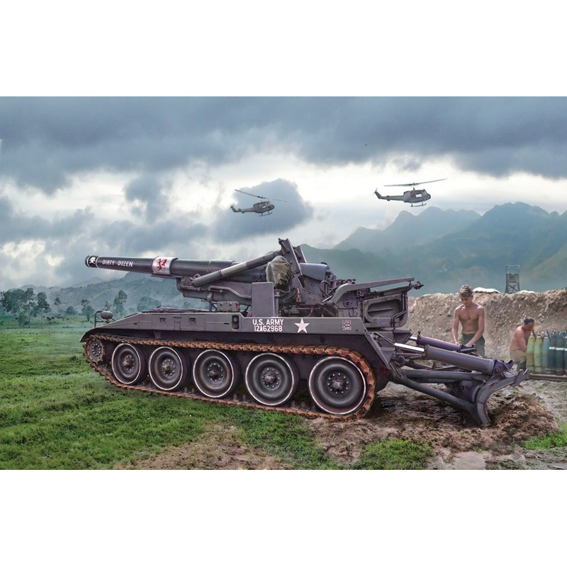 ITA-6574 italeri 6574 1/35 U.S. M110 A2 203 mm HEAVY SELF PROPELLED GUN