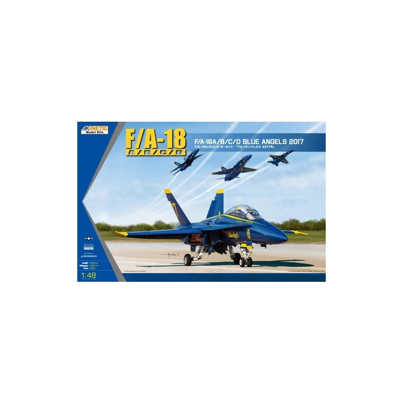 KIN-48073 Kinetic 48073 1/48 F/A-18A/B/C/D Blue Angels 2017