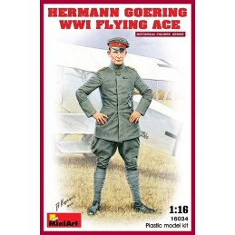 MA-16034 MINIART 160301/16 Hermann Goering. WW1 Flying Ace. Con peana