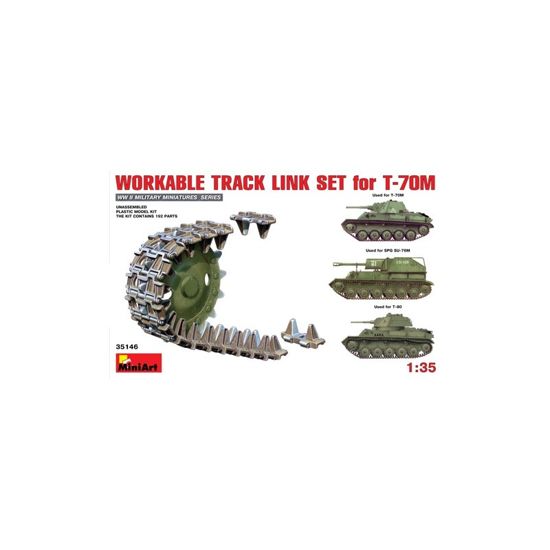 MA-35146 1/35Workable Track Link Set for T-70M Light Tank