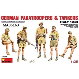 MA-35163 1/35 German Paratroopers  Tankers (Italy 1943)
