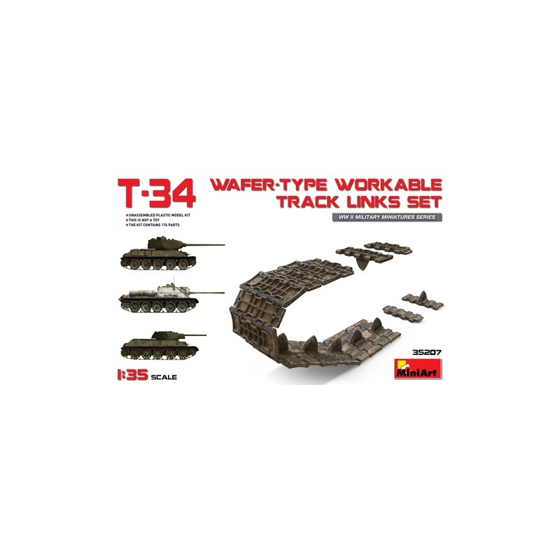 MA-35207 MINIART 35207  1/35 T-34 Wafer-Type Workable Track Links Set