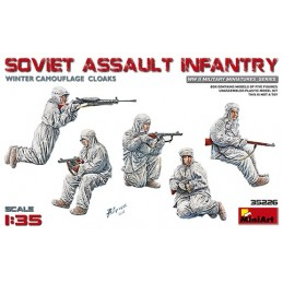 MA-35226 MINIART 35226  1/35 Soviet Assault Infantry (Winter Camouflage Cloaks)