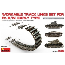 MA-35235 MINI ART 35235  1/35 Pz.Kpfw III/IV Workable Track Links Set.Early Type