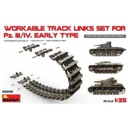 MA-35235 MINI ART 35235  1/35 Pz.Kpfw III/IV Workable Track Links Set.Early Type
